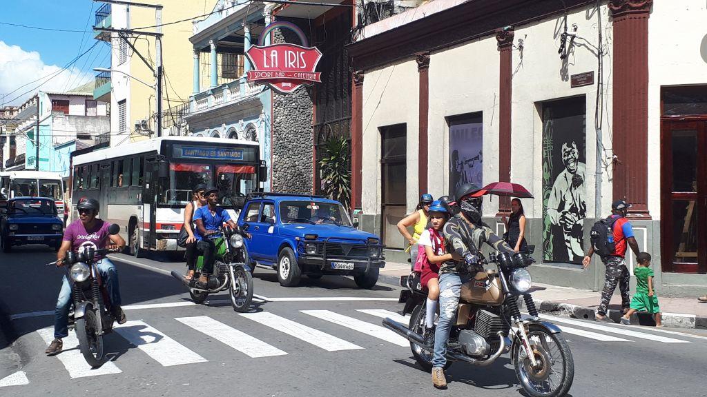 Motocykliści w Santiago