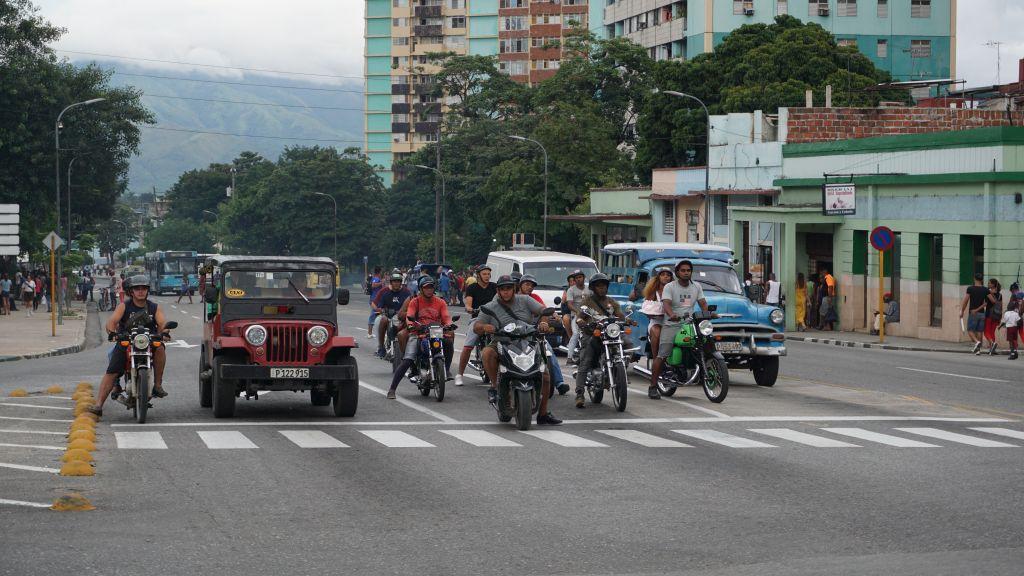 Motocykliści dominują w Santiago