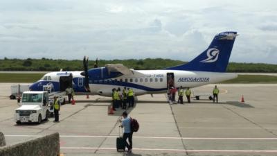 Aerogaviota po wylądowaniu w Santiago de Cuba