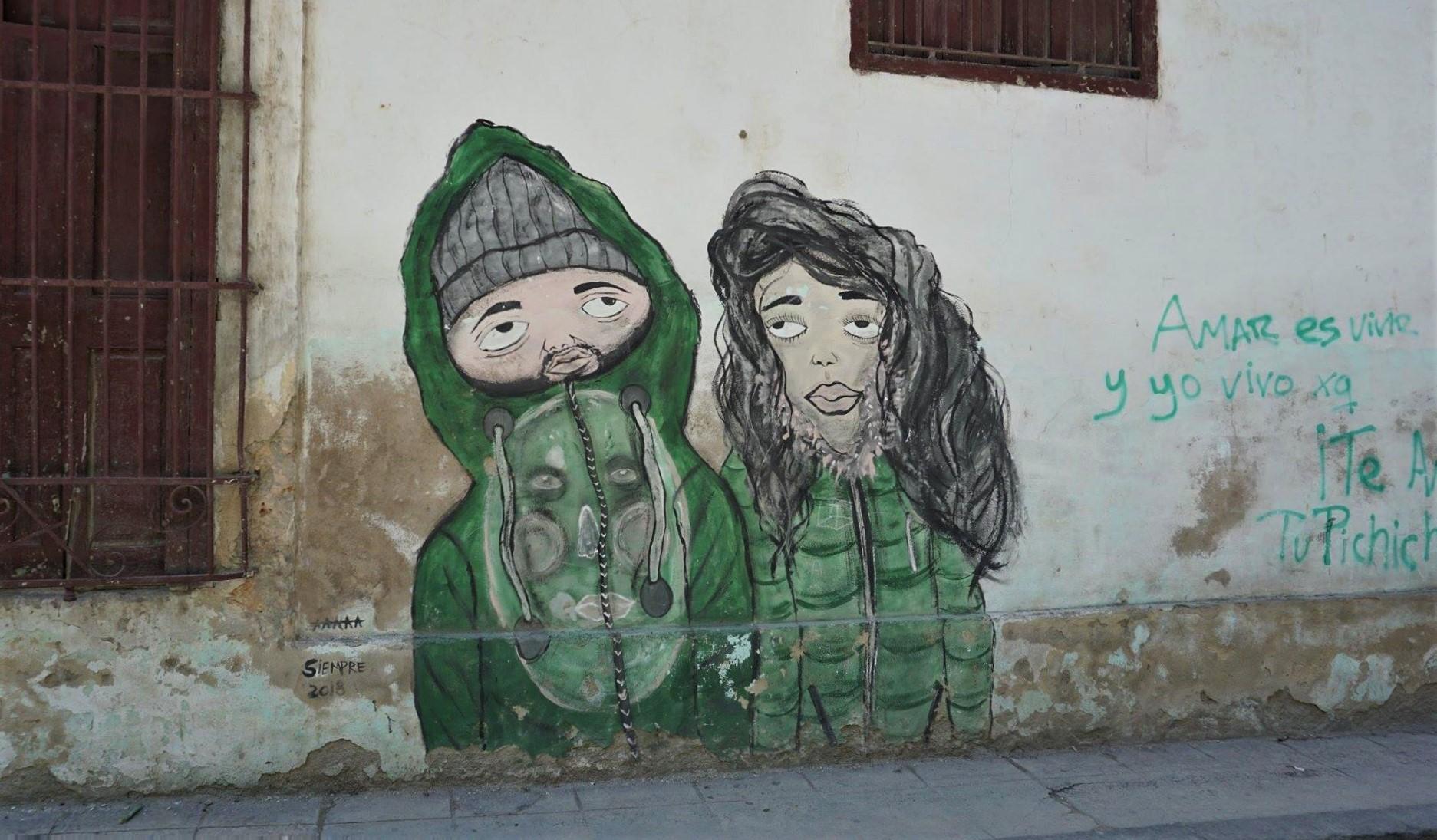 Murale w Hawanie Centro