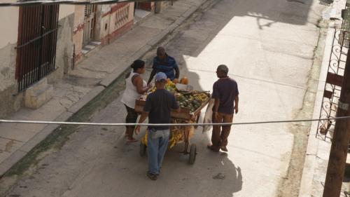 Sprzedawca warzywa codziennie odwiedza Damas i okoliczne uliczki