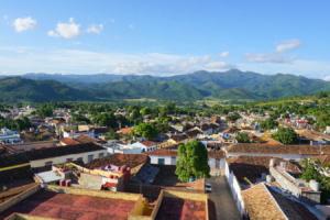 Panorama Trinidadu z wiezy klasztoru św. Franciszka z Asyżu