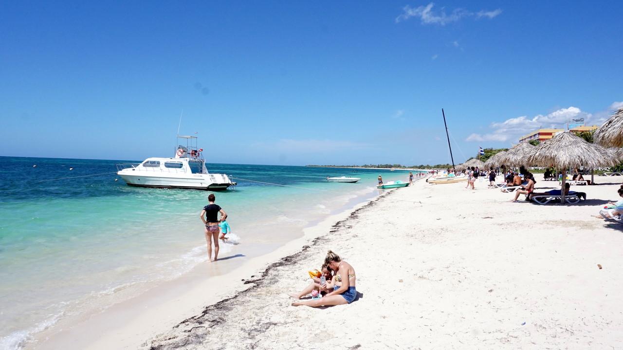 Playa Ancón obok Trinidadu na Kubie